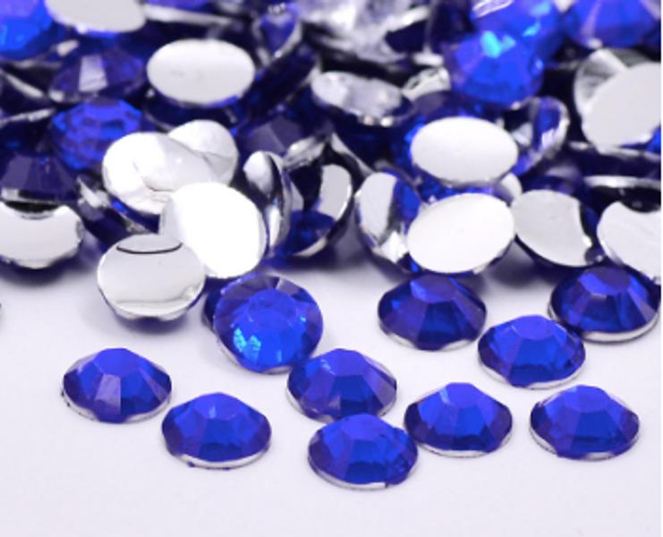 Rhinestones, 1000 stk blue